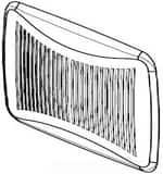 Broan Nutone Grille for 674 Ventilation Fan BS97016798