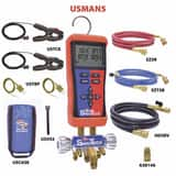 Uniweld Products 1/4 x 3/8 in. Digital Valve Manifold with Hose WUSMAN5