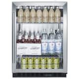 Summit Appliances 19-1/2 in. 5 cf Built-In Beverage Center in Black SSCR610BL