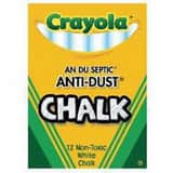 Officemax Crayola® Anti Dust Chalk in White (Box of 12) OJ1501402