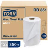 Tork Universal Hardwound Paper Roll Towel, 1-Ply, White TRB351