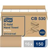Tork Universal C-Fold Paper Hand Towel, 1-Ply 150-Sheets TCB530