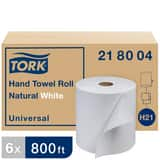 Tork Universal 800 ft. x 7-9/10 in. Hand Towel Roll in Natural and White (Case of 6) T218004