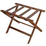 Central Specialties Wood Luggage Rack in Brown C177DK1