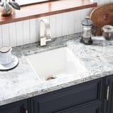 Signature Hardware Totten 16-5/8 x 16-5/8 in. Drop-in and Undermount Granite Bar Sink MIRGR1B1616