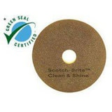 3M Scotch-Brite™ 12 in. Clean and Shine Pad in Brown, Yellow and Gold (Case of 5) 3M63806009550