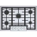 Bosch 800 Series 30 in. 5-Burner Natural Gas Cooktop in Stainless Steel BNGM8056UC