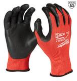 Milwaukee L Size Nylon Glove in Red with Black M48228932