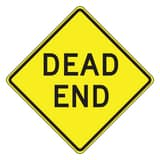 Accuform Signs 30 x 30 in. Engineer Grade Dead End Sign in Yellow AFRW417RA at Pollardwater