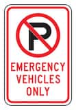 Accuform Signs 18 x 12 in. Engineer Grade Emergency Vehicles Only Sign in White AFRP147RA at Pollardwater