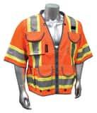 Radians Radwear™ 300D and Polyester Safety Vest in Orange RSV553ZOD at Pollardwater