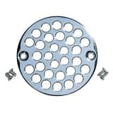 IPS Corporation 4 in. Shower Drain Grate with Screw Down in Chrome Plated I69835