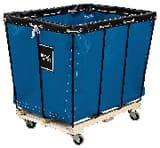 Royal Basket Trucks Steel and Vinyl Knockdown Basket Truck with Wood Base in Blue RF12BBWKDA3UNN