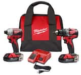 Milwaukee Cordless 18V 2-tool Drill and Impact Driver Combo Kit M289222CT