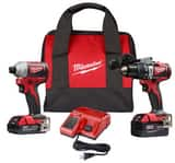 Milwaukee Cordless 18V 2-tool Hammer Drill and Impact Driver Combo Kit M289322CX