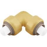 Jones Stephens Plumbite® Push 200 psi Brass 90 Degree Elbow JC77425LF at Pollardwater