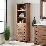 Signature Hardware Bonner 22-1/2 x 72-1/8 in. Linen Tower in Pine SH441294