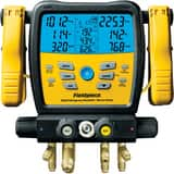 Fieldpiece Instruments Sman™ 4 in. 4-Port Refrigerant Manifold and Micron Gauge FSM480V
