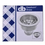 Dearborn Brass 3-1/2 in. Stainless Steel Basket Strainer with Tailpiece in Polished Chrome DEA15T
