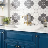 Signature Hardware Derin 32 x 19 in. Fireclay Single Bowl Drop-In and Undermount Kitchen Sink in White SH435024