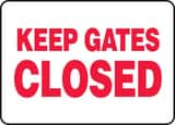 Accuform Signs 7 x 10 in. Keep Gates Closed Sign AMABR507VP