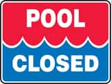 Accuform Signs 18 x 24 in. Pool Closed Sign AMASW505VP