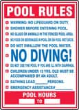 Accuform Signs 28 x 20 in. Pool Rules Sign AMASW402VP