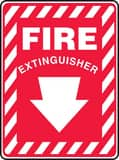 Accuform Signs 10 x 7 in. Fire Extinguisher Sign AMFXG417VP