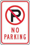 Accuform Signs 18 x 12 in. No Parking Sign AFRP116RA