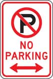 Accuform Signs 18 x 12 in. No Parking Sign AFRP117RA