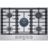 Bosch Company Appliances 800 Series 29-1/2 in. 5-Burner 5-Element Sealed Cooktop in Stainless Steel BNGM8057UC