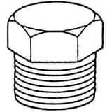 Threaded 150# 316 Stainless Steel HEX Plug IS6CTHP