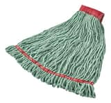 Rubbermaid Web Foot® Polyester, Rayon and Synthetic Disinfectant Loop-end Mop in Green ALM204LDWGFE