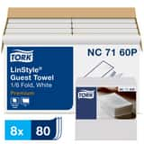 Tork LinStyle® Valet Guest Towel 1/6 Fold, 1-Ply 80-Sheets, White TNC7160P