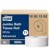Tork 3-11/20 in. x 1600 ft. Advanced Toilet Paper Jumbo Roll (Case of 6) T12021502