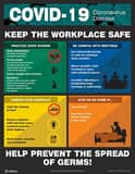 Accuform Signs 22 x 17 in. COVID-19 Keep the Workplace Safe Sign ASP125302L