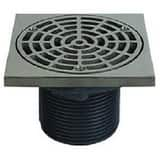 Sioux Chief 842 Series 4 in. MIPT Heavy Duty Floor Drain with 6-5/8 in. Round Cast Iron Grate S8424LI