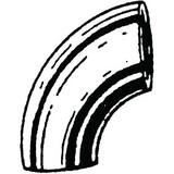 3-1/2 in. Weld Standard Long Radius Carbon Steel 90 Degree Elbow GW9N