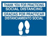 Brady Worldwide 14 x 18 in. Thank You for Practicing Social Distancing Sign B170518