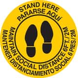 Brady Worldwide 8 in. Stand Here Maintain Social Distance 6FT./2M Sign B170525