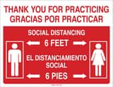 Brady Worldwide 7 x 10 in. Thank You for Practicing Social Distancing Sign B170323