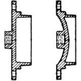 Mechanical Joint Ductile Iron C110 Full Body Tapped Plug FBTPK