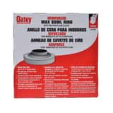 Oatey Urethane Reinforced Bowl Wax Ring with Horn O31195