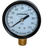 American Granby 1/2 in. 0 - 100 psi Steel Case Pressure Gauge AIPG10024L
