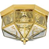 Progress Lighting 26W 4-Light Outdoor Ceiling Lantern in Polished Brass PP578910