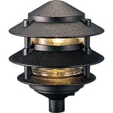Progress Lighting Pagoda 18W 1-Light Wedge Halogen Path Light in Black PP521931