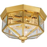 Progress Lighting 25W 3-Light Outdoor Ceiling Lantern in Polished Brass PP578810